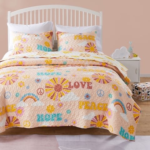 Greenland Home Fashions Cassidy Quilt and Pillow Sham Set