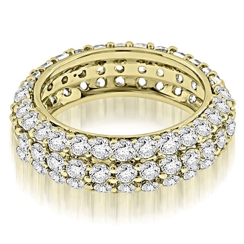 2.50 cttw. 14K Yellow Gold Elegant Three Row Round Diamond Eternity Band Ring