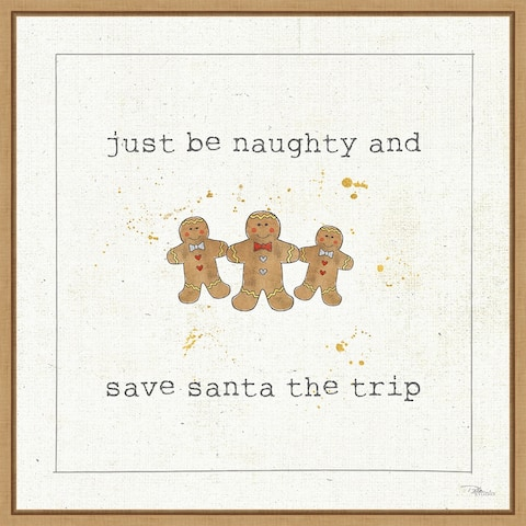 Christmas Cuties VII (Gingerbread) by Pela Studio Framed Canvas Art
