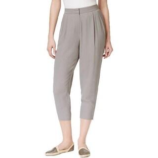Eileen Fisher Womens Cropped Pants Silk High-Waist