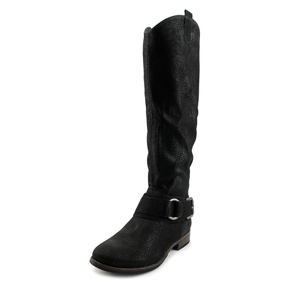 Very Cherry Buttery Women Round Toe Synthetic Black Boot