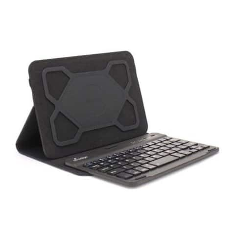 M Edge Universal SM Folio Pro w/ Keyboard For 7-8 Inch Tablets - Black Textured