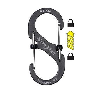 Nite Ize S-Biner Slidelock Aluminum - 3 - Charcoal S-Biner Marine Slidelock