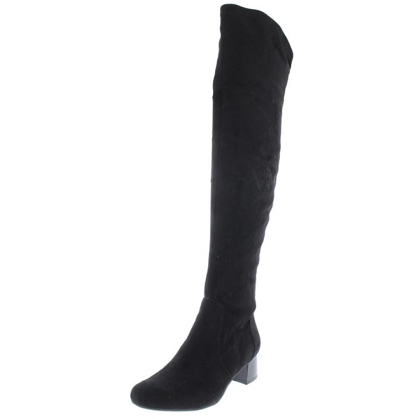 29a4badea4f Naturalizer Womens Danton Over-The-Knee Boots Faux Suede Stacked Heel