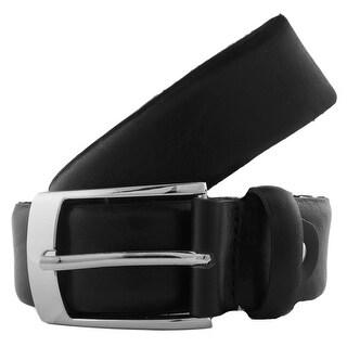 Romeo Gigli T735/35 NERO Black Distressed Leather Adjustable Belt