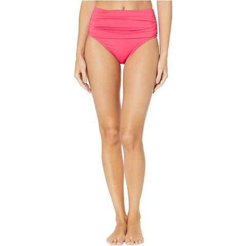 Bleu Rod Beattie Women's Kore Shirred High-Waist Bikini Bottom, Watermelon, 4