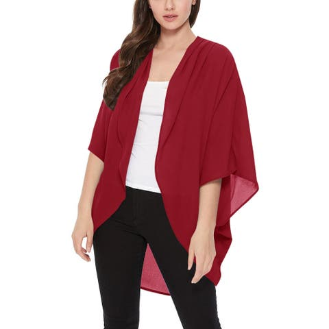 Women's Loose Fit Lightweight Solid Sweater Cardigan