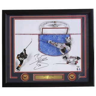 Braden Holtby Signed Framed 16x20 Caps 2018 Stanley Cup The Save Photo Fanatics