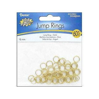 Darice JD Jump Ring 10mm Gold 60pc