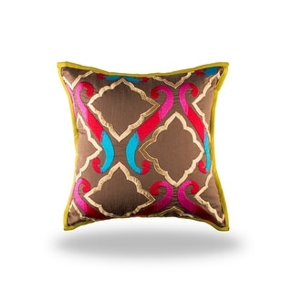 100% Handmade Imported The Royal Durbar Pillow Cover, Multicolor
