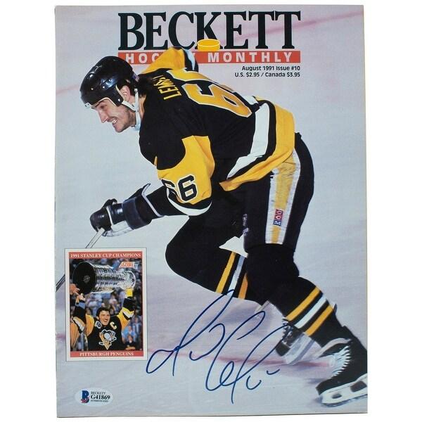 half off 8687b 5e809 Mario Lemieux Pittsburgh Penguins Signed Beckett Hockey Monthly Magazine BAS
