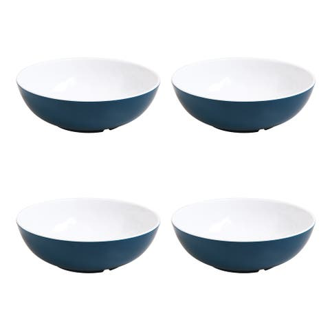 Mainstays Melamine Mix and Match 36oz. Cereal Bowls 4-Pack - Blue - 2.50 x 7.5 x 7.5