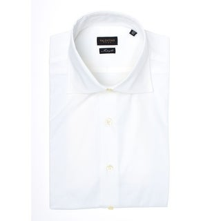 Valentino Men's Spread Collar Interfit Stretch Cotton Dress Shirt White