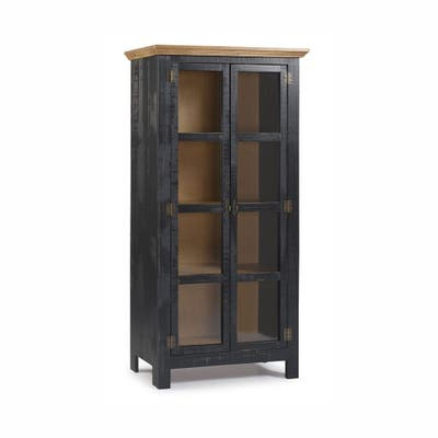 The Beach House Design Accent Cabinet w/ Glass Doors