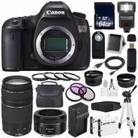 Canon EOS 5DS DSLR Camera (International Model) (0581C002) + Canon EF 75-300 III+ EF 50mm f/1.8 STM Lens Bundle