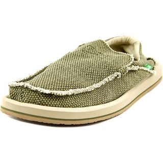 Sanuk Chiba Men Round Toe Canvas Green Loafer