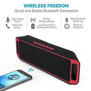 Indigi® HOT GIFT! RED Portable Wireless Bluetooth Speaker For All iPhone 7 Android Phone