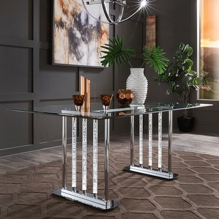 Gaia Clear Glass LED Table by iNSPIRE Q Bold - Gaia Clear Glass LED Table