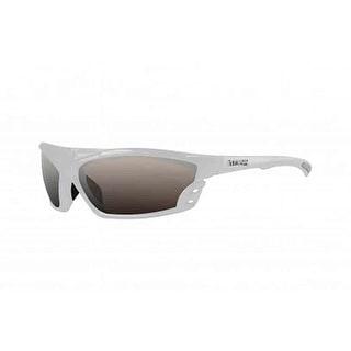 Maxx Sunglasses Cobra White Frame Polarized Smoke HD Lenses
