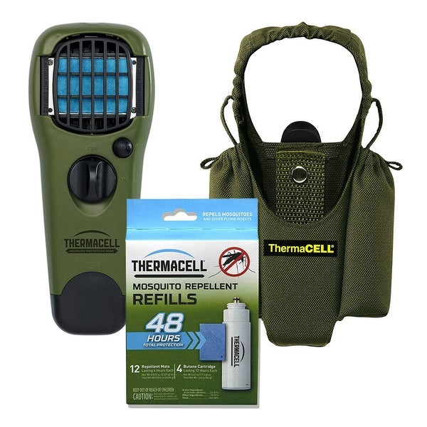 ThermaCELL Camper's Kit : Mosquito Repellent Appliance Olive, Holster, 4 Refills