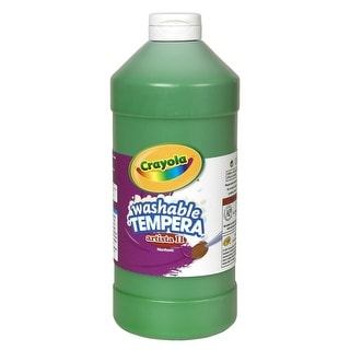 Crayola Artista II Non-Toxic Washable Tempera Paint, 1 qt Squeeze Bottle, Green