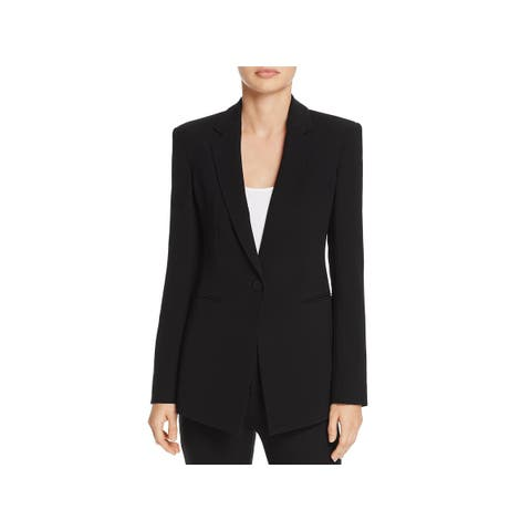6d4d23e6bc Theory Womens Power One-Button Blazer Crepe Office