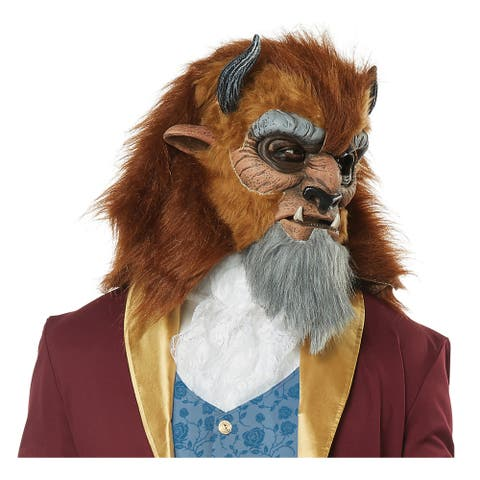 Mens Storybook Beast Prince Costume Mask - Standard - One Size