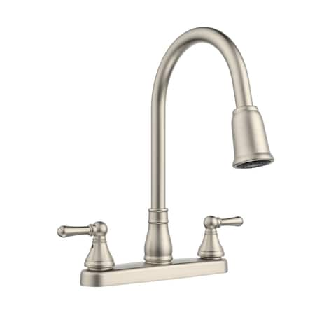 Belanger EBE78WBN2 Non-Metallic Two-Handle Pull-Down Kitchen Faucet, Brushed Nickel