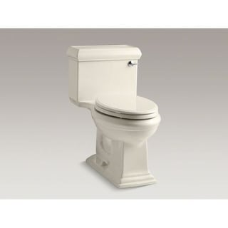 Kohler K-3812-RA Memoirs Classic 1.28 GPF One-Piece Elongated Comfort Height Toilet with Right Hand Trip Lever and AquaPiston