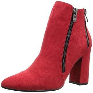 2 Lips Too Womens Too Effort Ankle Boots Faux Suede Zipper Detail