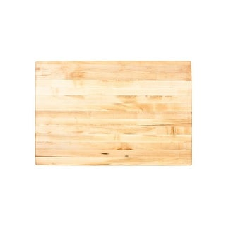 "Jeffrey Alexander ISL10-TOP Island Top Collection 36 x 24"" Kitchen Storage Island Maple Butcher Block Top - treated maple"