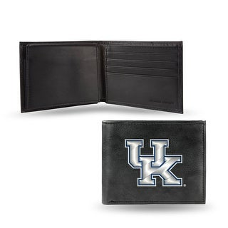 4 Black And Gray College Kentucky Wildcats Embroidered Billfold Wallet N A