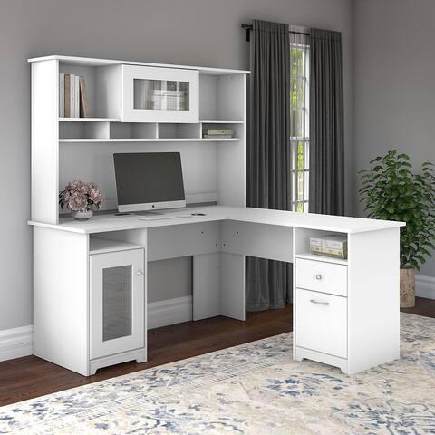Copper Grove Daintree L-shaped Desk with Hutch