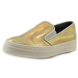 Studio Pollini SA10103G1KTG0900 Women Round Toe Patent Leather Gold Sneakers