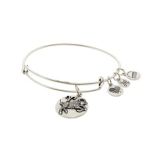 "Alex And Ani Women's Zodiac Aries 3 Bangle Bracelet - 7"" - Silver"