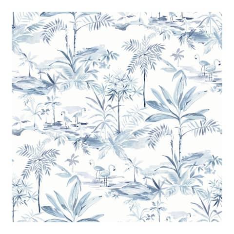 Lagoon Blue Scenic Island Wallpaper - 20.5 x 396 x 0.025