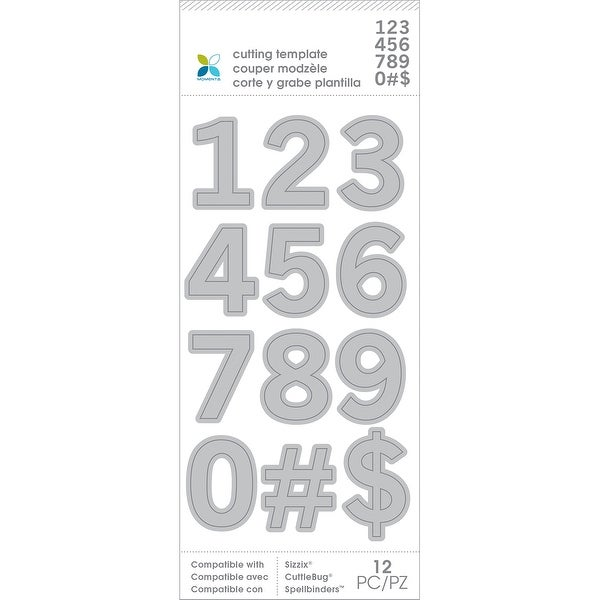 Momenta Die Cutting Templates-Numbers