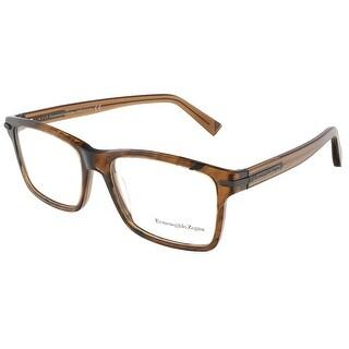 Ermenegildo Zegna EZ5033/V 050 Brown/Black Rectangular Opticals