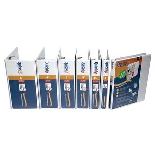 Stride QuickFit Polypropylene Angle D-Ring View Binder, 2 in, 8-1/2 x 11 in, White
