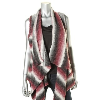 G.H. Bass & Co. Womens Drapey Open Front Sweater Vest