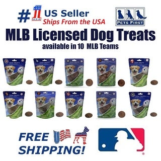 MLB 100% HEALTHY Natural Delicious Dog Treats COOKIES with engraved TEAM LOGO