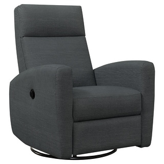 Monarch 8612GY Power Swivel Glider Charcoal Grey Reclining Chair