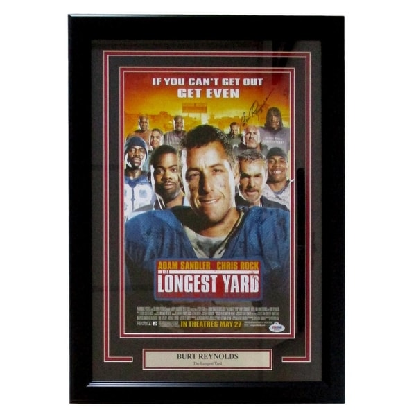 shop burt reynolds signed framed longest yard 11x17 movie poster