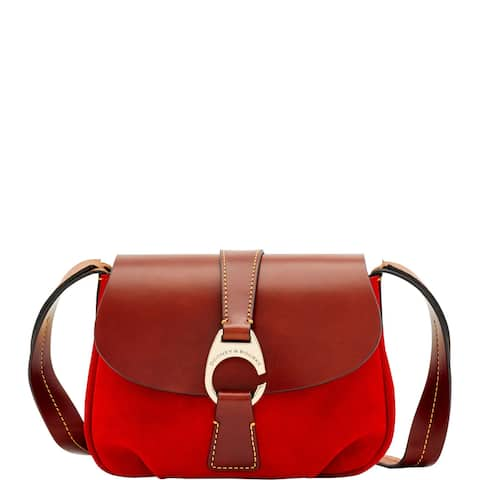 e5999106a484 Dooney & Bourke Derby Suede Small Flap Crossbody Shoulder Bag (Introduced  by Dooney & Bourke