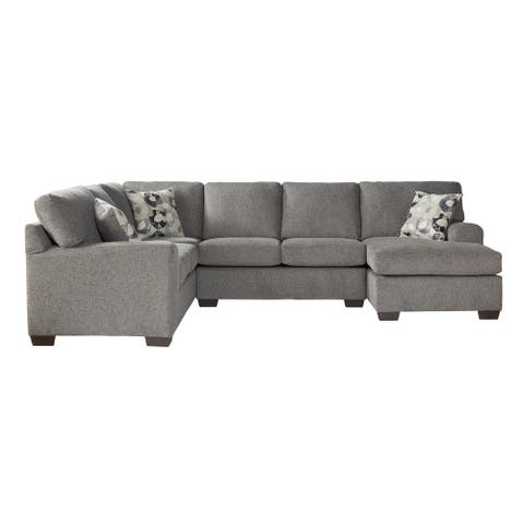 Manisa Fabric Sectional Sofa in Camelot Blackstone