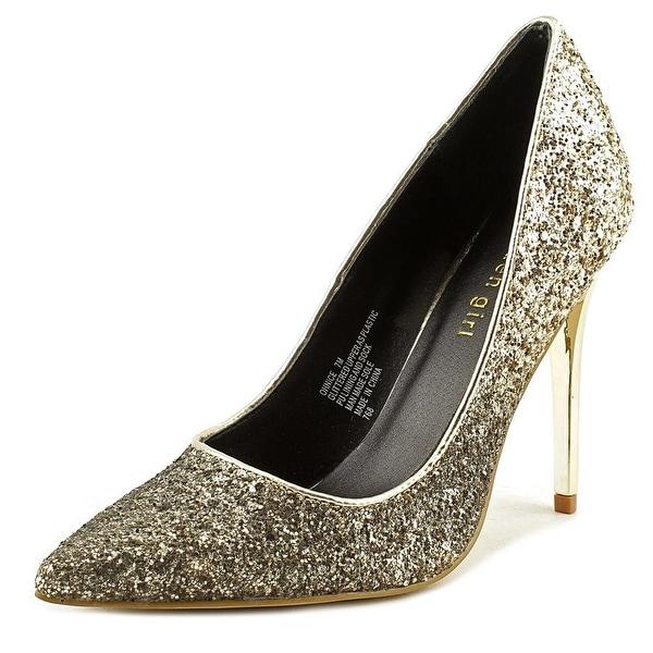 Madden Girl Ohnice Women Gold Glitter Pumps