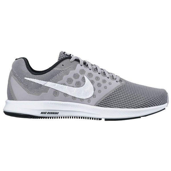 d60cea297ee1 Shop Nike Men s Downshifter 7 Running Shoe Wolf Grey White Black Size 12 M  Us - Free Shipping Today - Overstock - 25592568
