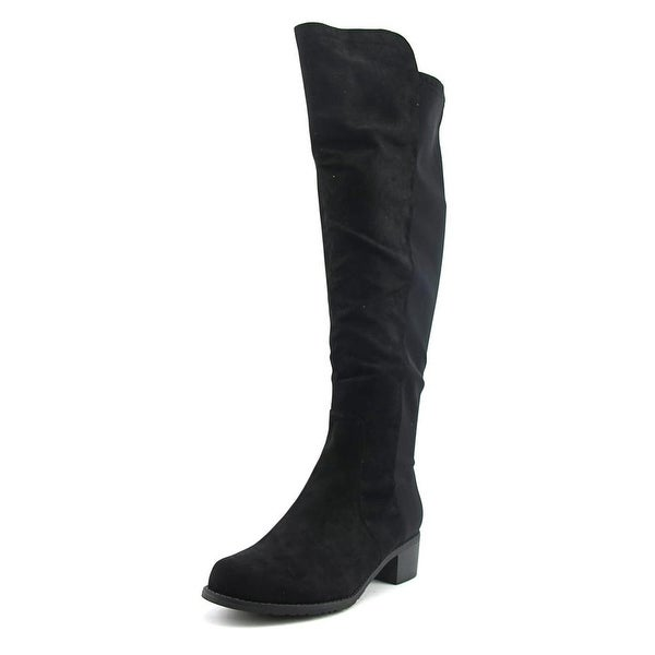 Unisa Indyia Women W Round Toe Synthetic Black Over the Knee Boot
