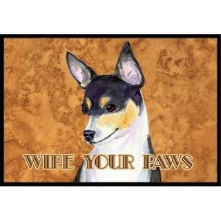Carolines Treasures SS4882JMAT 24 X 36 In. Toy Fox Terrier Wipe Your Paws Indoor Or Outdoor Mat