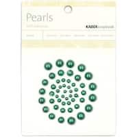 Self-Adhesive Pearls 50/Pkg-Green - Green